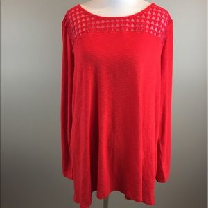 Lane Bryant Red Long Sleeved Tunic Sweater 18/20